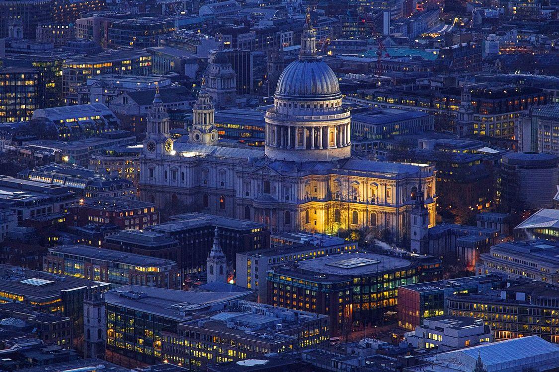 Фото бесплатно Собор Святого Павла, Лондон, Англия, ночь, ночной город, город