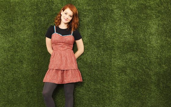 Фото бесплатно Джейн Леви, рыжая, платье