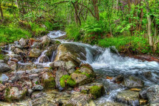 Photo free flow, waterfall, flowing