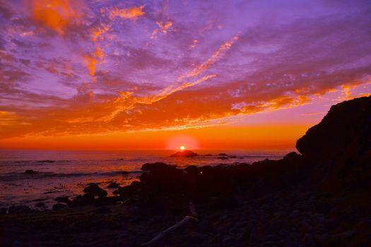 Заставки пейзаж, штат Калифорния, Национальный парк Сонома побережье