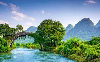 Заставки Китай, лето, горы