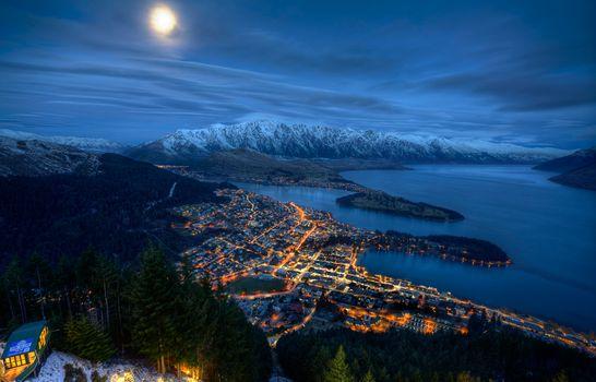 Фото бесплатно Квинстаун, Новая Зеландия, Оверлук