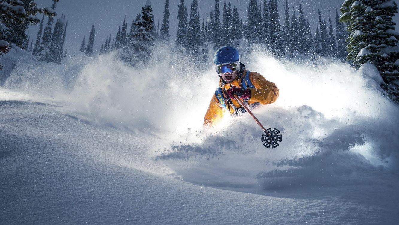 Фото бесплатно горнолыжный спорт, мужчины, лыжи - на рабочий стол