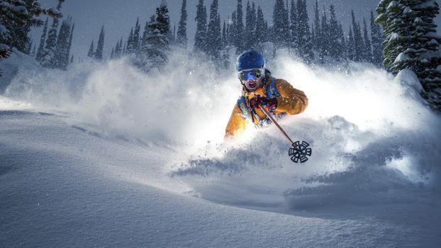 Фото бесплатно горнолыжный спорт, мужчины, лыжи
