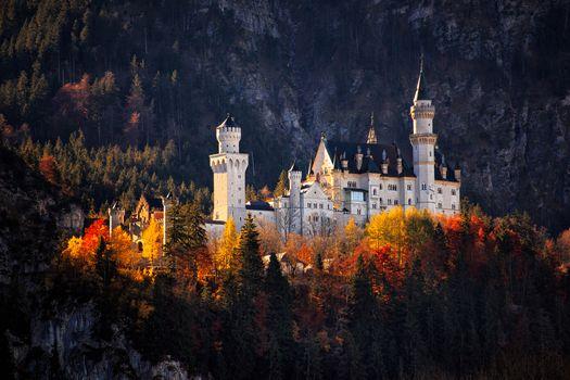 Бесплатные фото Neuschwanstein castle,Schwangau,Bavaria,Germany