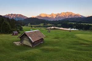 Фото бесплатно Озеро Герольдзее, Германия, Geroldsee, Южный Тироль, Альпы, Гармиш, Партенкирхен, сельская местность, Bavaria, Бавария