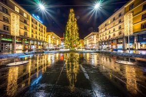 Фото бесплатно Рождественская елка Торгаллменнинген, Берген, Bergen
