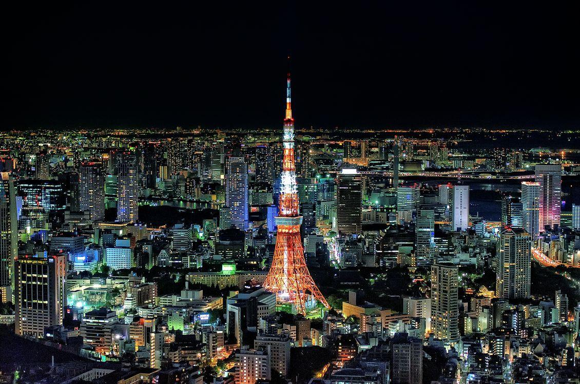 Японская телевизионная башня · бесплатная заставка
