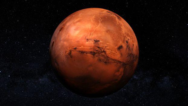 Заставки Марс, планета, звезды
