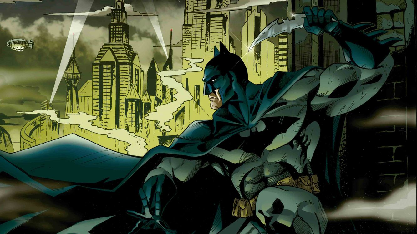 Обои Бэтмен, комиксы, нож картинки на телефон