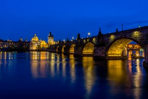 Фото бесплатно мосты, освещение, дома