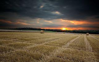 Фото бесплатно тюки, закат, восход