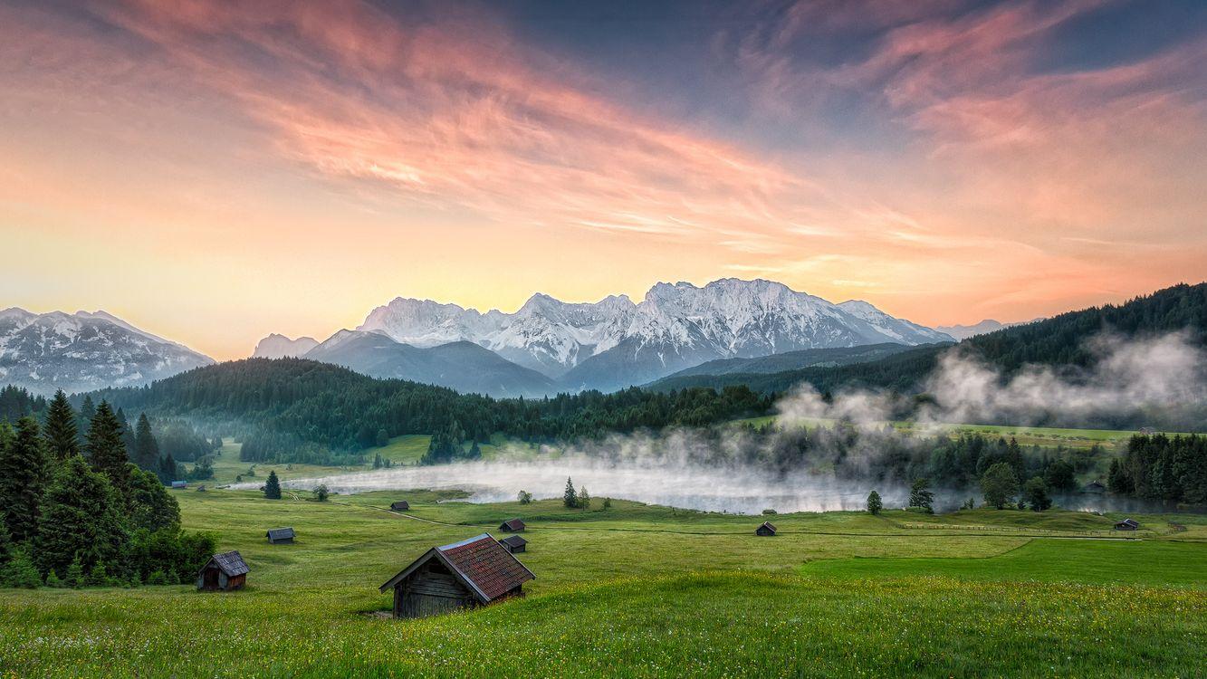 Фото бесплатно Wagenbruchsee, Garmisch-Partenkirchen, Alpen - на рабочий стол