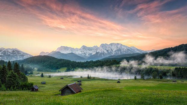 Фото бесплатно Wagenbruchsee, Garmisch-Partenkirchen, Alpen