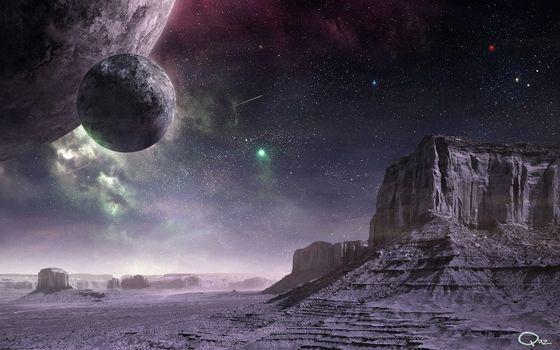 Фото бесплатно планеты, космическое, искусство