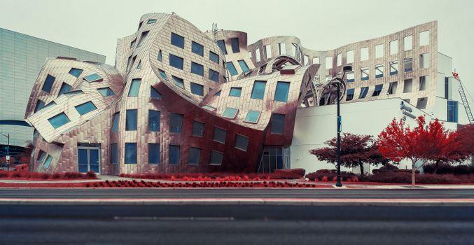 Заставки геотег,лас вегас,Лас Вегас центр,невада,соединенные штаты,сша,888 Запад Бонневиль проспект,a6500,архитектор Фрэнк Гери,архитектурное здание,архитектурный дизайн,архитектура