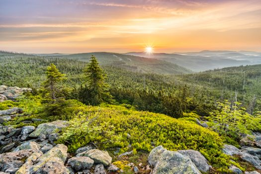 Заставки lusen, восход солнца, панорама