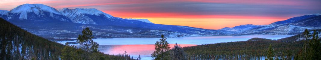 Фото бесплатно закат в горах, озеро, холмы
