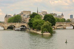 Фото бесплатно Париж, река Сена, город