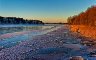 Photo free nature, Sweden sunset River, Angerman