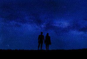 Бесплатные фото пара,ночь,вселенная,небо,мистический,ночное небо,лунный