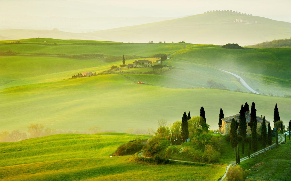 Фото бесплатно Тоскана, поля, ландшафт - на рабочий стол
