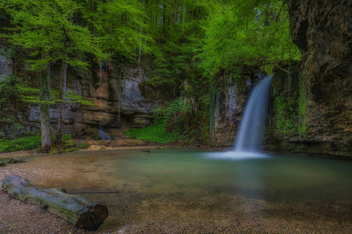 Красивые водопады · бесплатная заставка