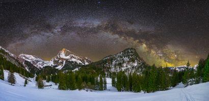 Фото бесплатно зима, небо, Швейцария