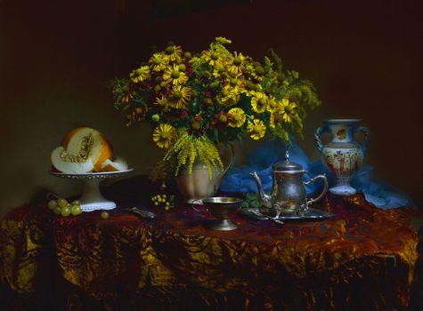 Photo free vase, still life, fruit bouquet