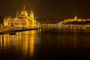 Фото бесплатно Будапешт, Венгрия город, ночь
