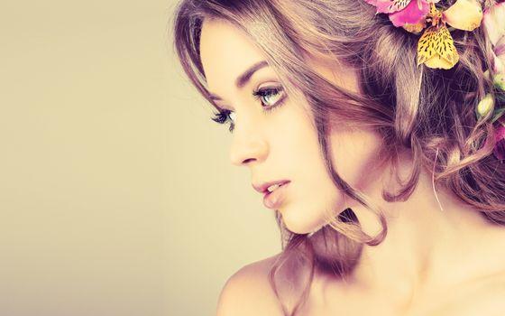 Бесплатные фото девушка,модель,макияж,прическа