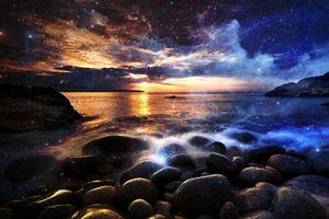 Фото бесплатно камни, облака, берег