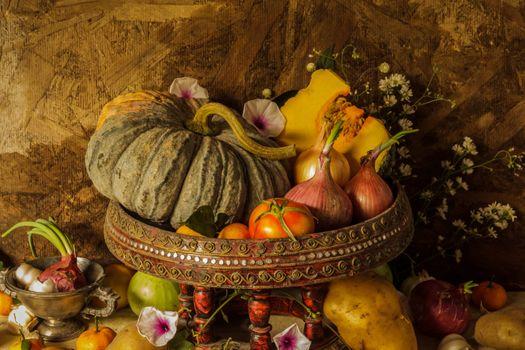 Photo free composition, pumpkin, autumn gifts