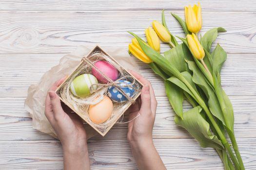 Бесплатные фото праздник,Пасха,декор,яйца,коробка,wood