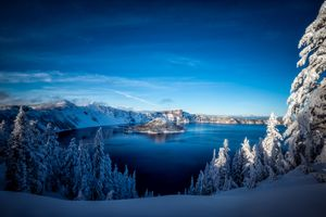 Фото бесплатно Crater Lake, Southern Oregon, Crater Lake National Park