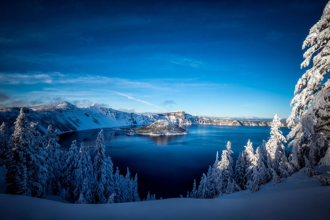 Обои Crater Lake, Southern Oregon, Crater Lake National Park картинки на телефон