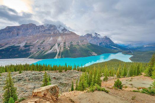 Фото бесплатно Peyto Lake, Canada, Banff National Park in the Canadian Rockies