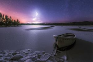 Фото бесплатно Ringerike, Norway, Moonlight