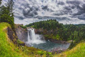 Фото бесплатно Вашингтон, река Сноквалми, водопад