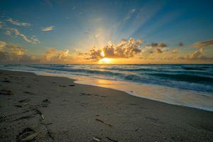 Photo free landscape, coast, sunset