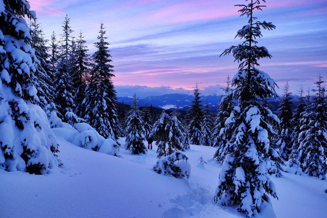 Обои зима, бородки, горы картинки на телефон