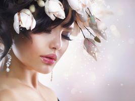 Заставки макияж, модель, портрет