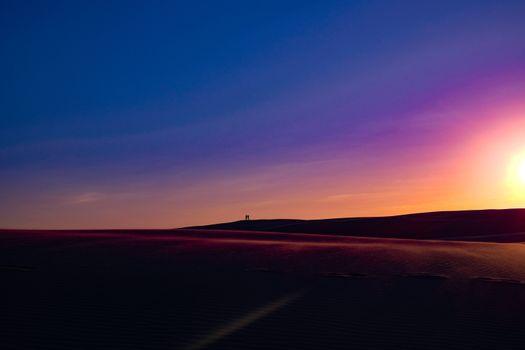 Фото бесплатно пустыня, небо, люди