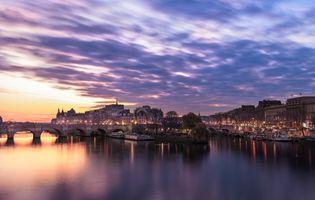 Фото бесплатно Париж, восход солнца, Иль-де-ла-Сите