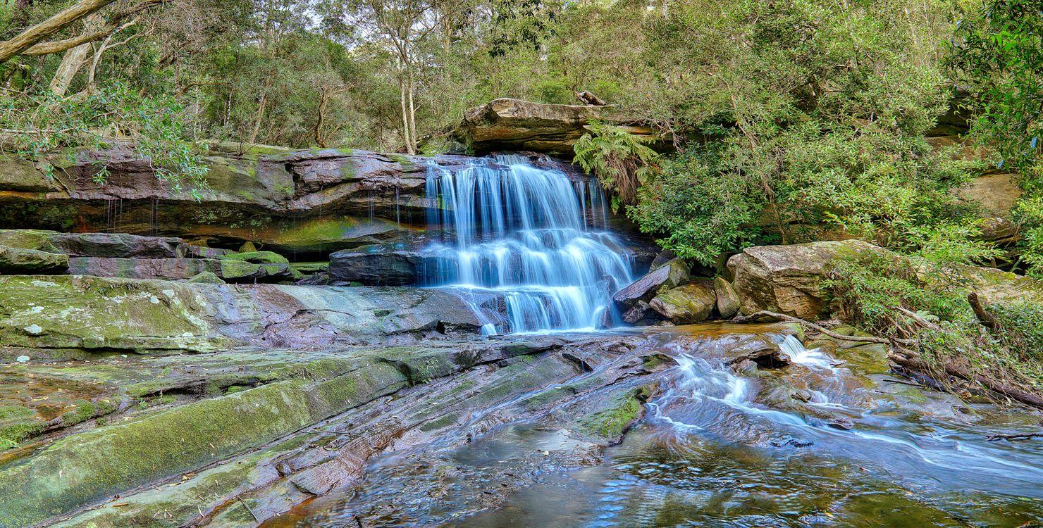 Фото бесплатно Австралийские водопады, Австралия, Somersby Falls - на рабочий стол
