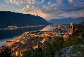 Фото бесплатно Черногория Монтенегро, закат солнца, Котор