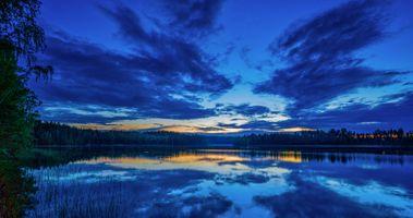 Потрясающий финский закат