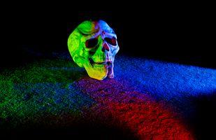 Фото бесплатно фон, череп, освещение