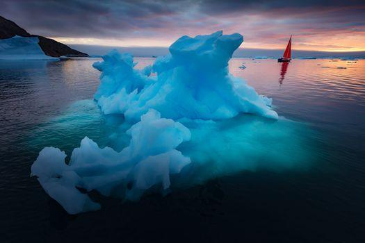 Красивые айсберги в Гренландии · бесплатное фото