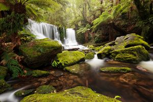 Фото бесплатно Horseshoe Falls, Mt Field National Park, Tasmania